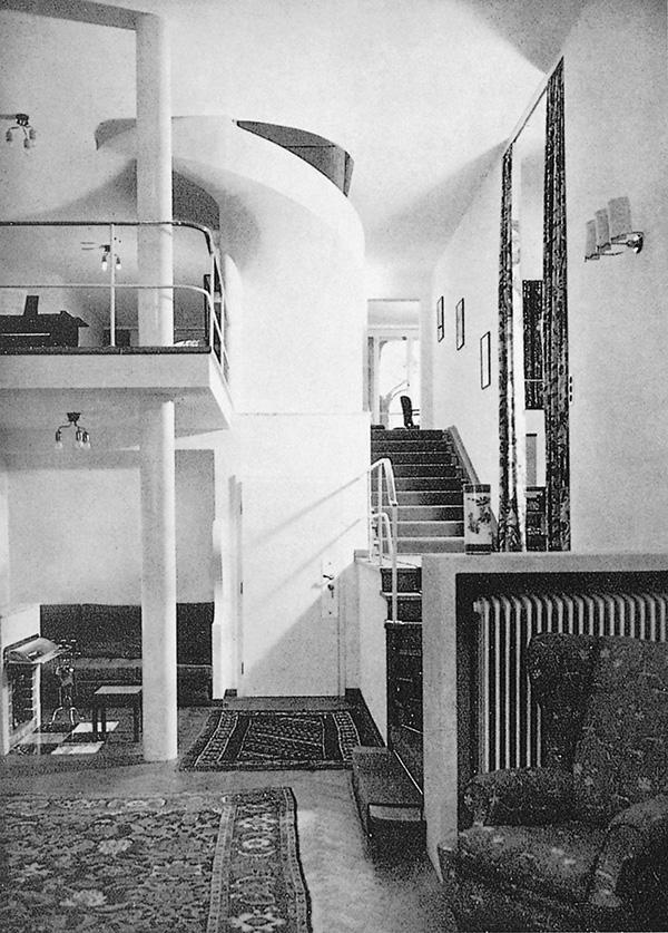 Den centrala hallen, Villa Beer, Wien, 1929-30 / The central hall, Villa Beer, Vienna, 1929-30