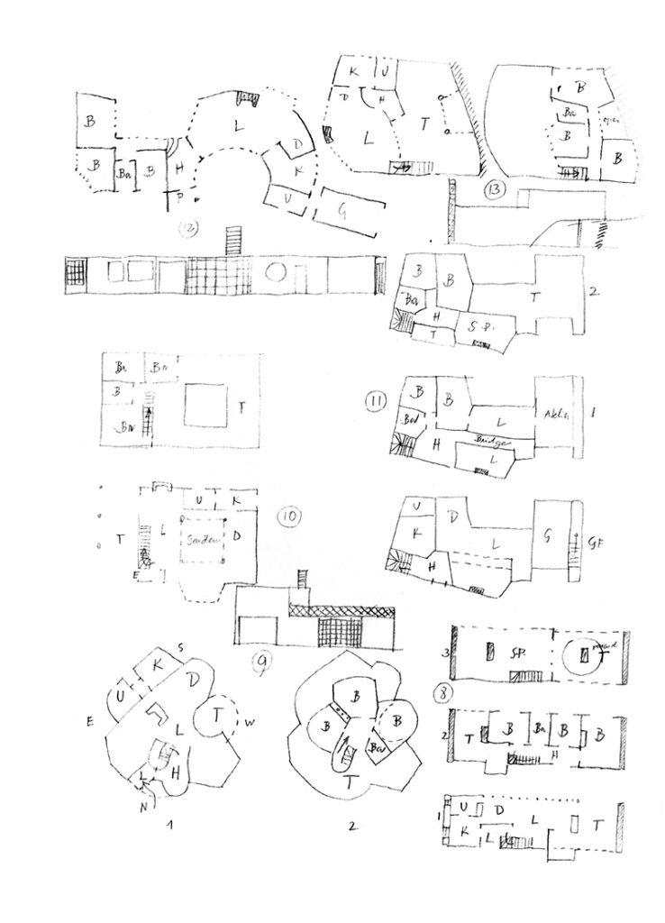 Fantasihus till Dagmar Grill, 1947 / Fantasy Houses for Dagmar Grill, 1947