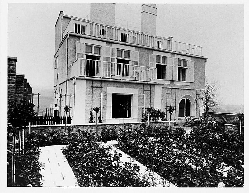Trädgårdssidan, Haus Scholl, Wien, 1913-14 / Garden side Haus Scholl, Vienna, 1913/14