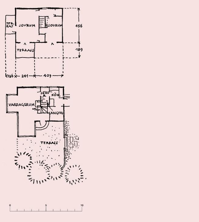 Villa Carlsten Original plan before extension