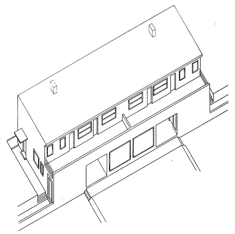 Parhus, Werkbund Siedlung, Stuttgart, 1927 / Double House, Werkbund Siedlung, Stuttgart, 1927