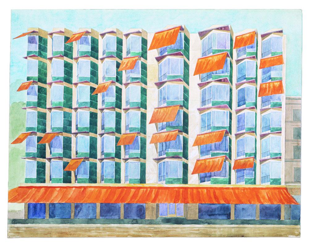 Hotell, projekt, 1950-tal / Hotel, project 1950s