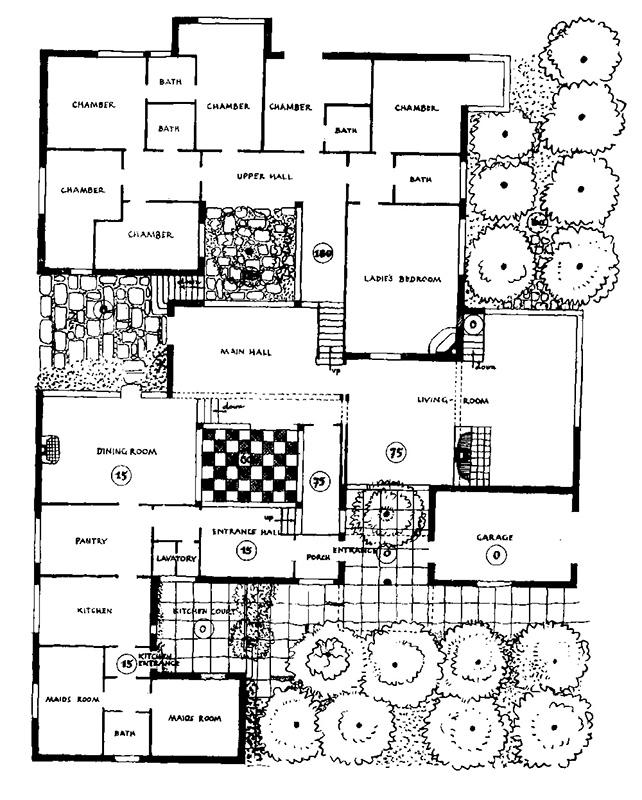 Villa M.S., Los Angeles, projekt, 1930 / House for M.S., Los Angeles, project 1930